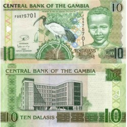 اسکناس 10 دالاسی - گامبیا 2009