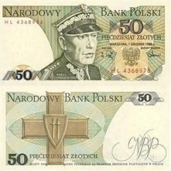اسکناس 50 زلوتیچ - لهستان 1988 تک