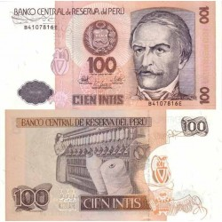 اسکناس 100 اینتیس - پرو 1987 تک
