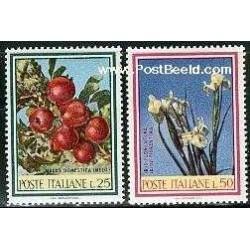 2 عدد تمبر گلها و میوه ها - ایتالیا 1967