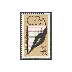 1 عدد تمبر حسابداران قسم خورده - حسابداران رسمی- آمریکا 1987