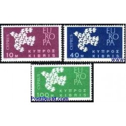 3 عدد تمبر مشترک اروپا - Europa Cept - قبرس 1962