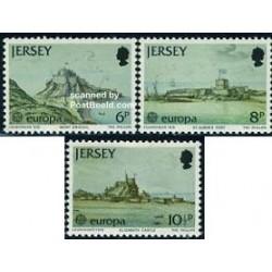 3 عدد تمبر مشترک اروپا - Europa Cept - جرسی 1978