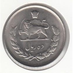 سکه ده ریال محمدرضا پهلوی 1350 بانکی با کاور - ح