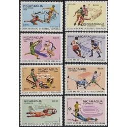 8 عدد تمبر جام جهانی فوتبال اسپانیا - نیکاراگوئه 1981
