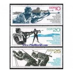 3 عدد تمبر ورزش اسکی با اسلحه - آلمان 1967