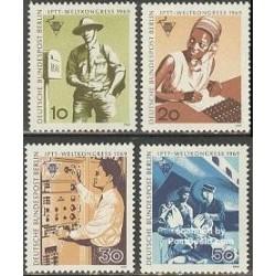 4 عدد تمبر کنگره کارکنان پست - آلمان 1969