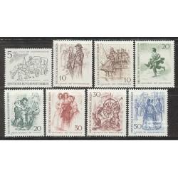 8 عدد تمبر تابلو نقاشی - برلین قدیم - آلمان 1969