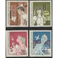 4 عدد تمبر تعطیلات برای کودکان - آلمان 1960