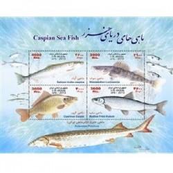 3337 - تمبر یادبود ماهیهای دریای خزر 1392
