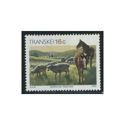 1 عدد تمبر سری پستی - فرهنگ Xhosa - حیوانات - آفریقای جنوبی 1987