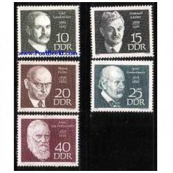 5 عدد تمبر چهره های مشهور - آلمان 1968