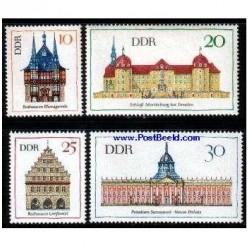 4 عدد تمبر معماری  - آلمان 1968
