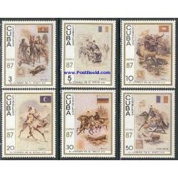 6 عدد تمبر تابلو نقاشی - کاپکس - کوبا 1987