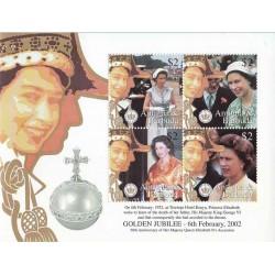 سونیرشیت پنجاهمین سالگرد تولد ملکه - آنتیگوا و بابودا 2002