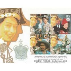 سونیرشیت پنجاهمین سالگرد تولد ملکه - گامبیا 2002