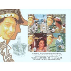 سونیرشیت پنجاهمین سالگرد تولد ملکه - گرنادا 2002