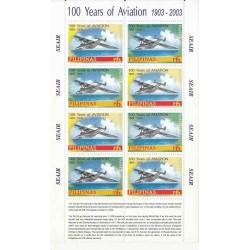 مینی شیت صدمین سالگرد هوانوردی - هواپیماهای گلایدر - فیلیپین 2003