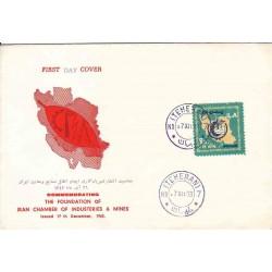 1224 - پاکت مهر روز - اطاق صنایع و معادن ایران 1342