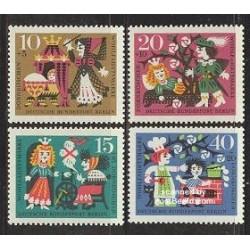 4 عدد تمبر رفاه اجتماعی - افسانه پریان - برلین آلمان 1964