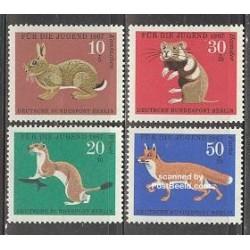 4 عدد تمبر جوانان - حیوانات - برلین آلمان 1967