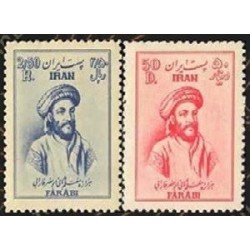 883 - 2 عدد تمبر هزاره ابونصر فارابی 1329 تک