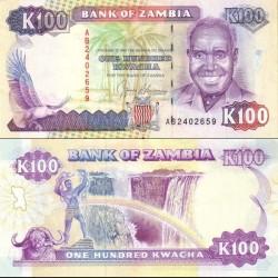 اسکناس 100 کواچا - زامبیا 1991
