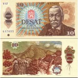 اسکناس 10 کرون - چک اسلواکی 1986