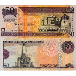 اسکناس 50 پزو - جمهوری دومنیکن 2012 تک