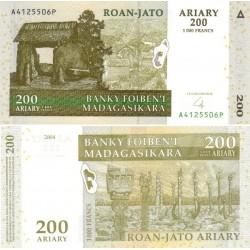 اسکناس 200 آریاری - ماداگاسکار 2004 تک