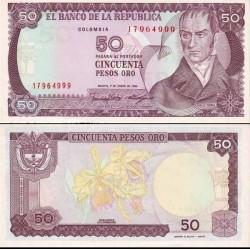 اسکناس 50 پزو - کلمبیا 1986