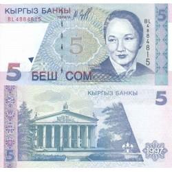 اسکناس 5 سام - قرقیزستان 1997