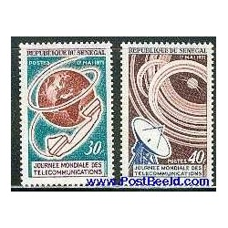 2 عدد تمبر روز جهانی ارتباطات - سنگال 1971