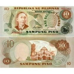 اسکناس 10پیزو - فیلیپین 1978 سریال قرمز