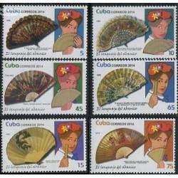 6 عدد تمبر زبان بادبزنها  - کوبا 2014