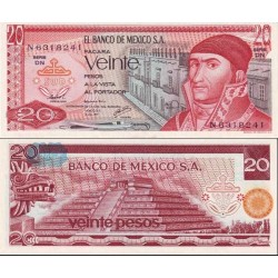 اسکناس 20 پزو - مکزیک 1977