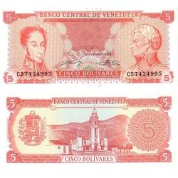 اسکناس 5 بولیوار - ونزوئلا 1989