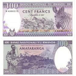 اسکناس 100 فرانک - رواندا 1989