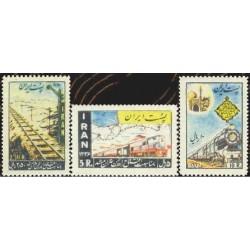 1032 - تمبر افتتاح راه آهن تهران - مشهد 1336 تک