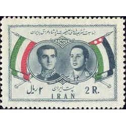 1038 - تمبر دیدار ملک فیصل دوم پادشاه عراق از ایران 1336 تک