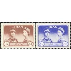 1127 - تمبر دیدار ملکه الیزابت دوم از ایران  1339 تک