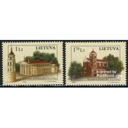 2 عدد تمبر کلیساها - لیتوانی 2006