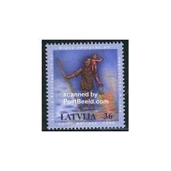 1 عدد تمبر کریستوفر - لتونی 2006