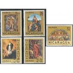 5 عدد تمبر نقاشی های مذهبی - نیکاراگوئه 1968
