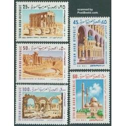 5 عدد تمبر ساختمانهای باستانی - سوریه 1969