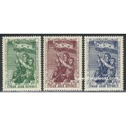 3 عدد تمبر سالگرد برون رفت - سوریه 1967