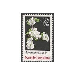 1 عدد تمبر کارولینای - گلها - آمریکا 1989