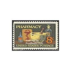1 عدد تمبر داروخانه - آمریکا 1972