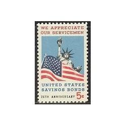 1 عدد تمبر صرفه جویی در اوراق قرضه - آمریکا 1966