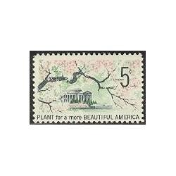 1 عدد تمبر آمریکای زیباتر - آمریکا 1966